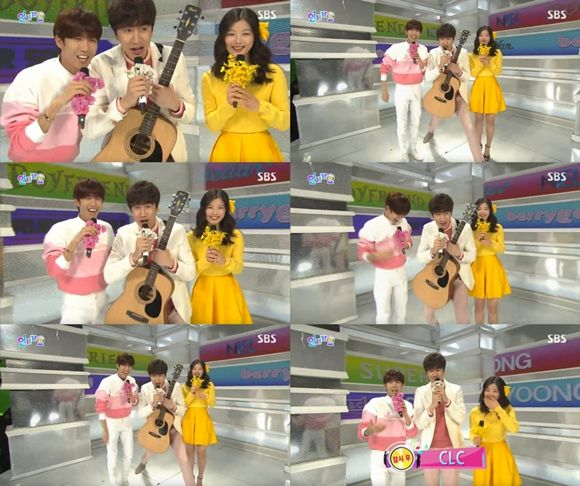 Actor Lee Kwang Soo joined SBS' live broadcast of its weekly music