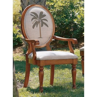 Super Tommy Bahama Home Tommy Bahama Home Palm Tree Oval Back Arm Caraccident5 Cool Chair Designs And Ideas Caraccident5Info
