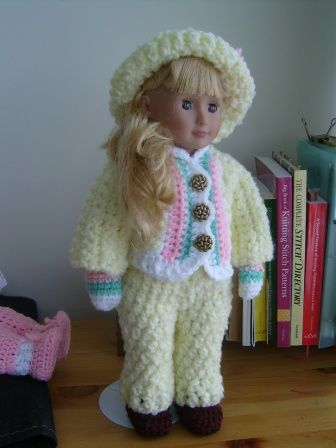 Free Crochet Pattern For An 18 Inch Doll Or American Girl Doll