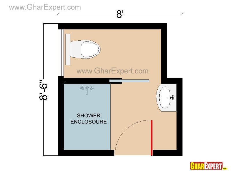 small bathroom layout plans 6x6 pocket door - Google Search | House ...