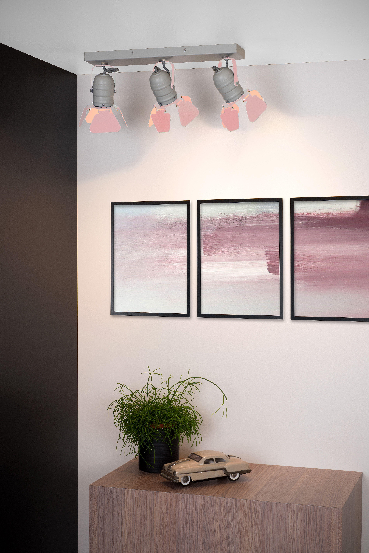 Lucide Picto Ceiling Spotlight Children 3xgu10 Pink Ceiling Lights Ceiling Spotlights Ceiling