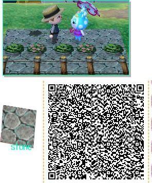 Animal Crossing New Leaf Qr Code Paths Pattern Credit Animal