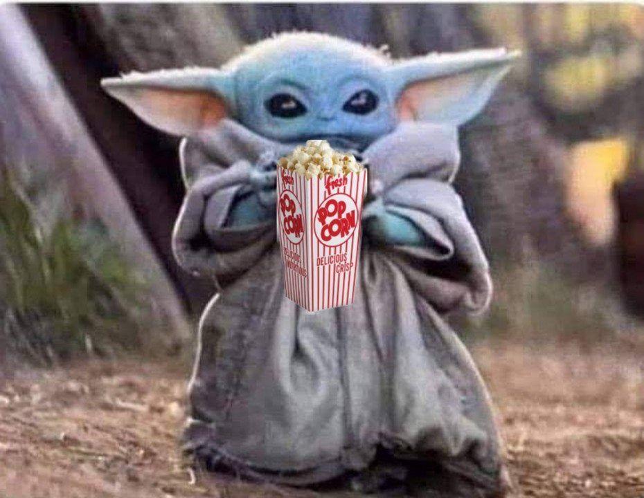 Baby Yoda Popcorn Yoda Funny Yoda Meme Star Wars Memes