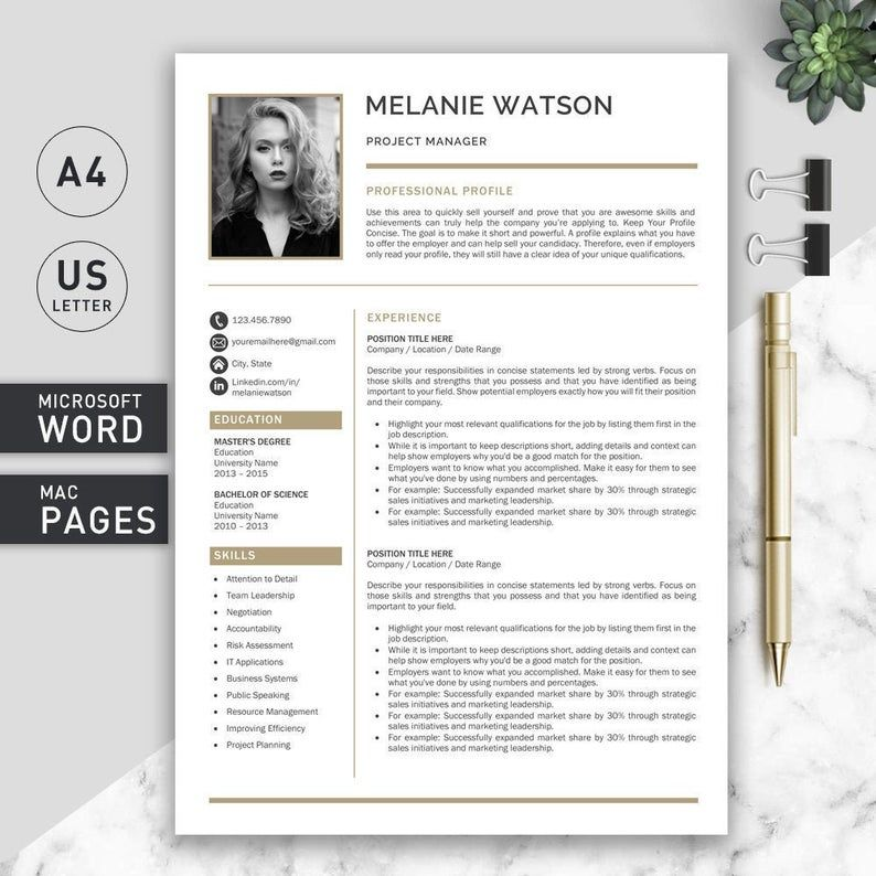 Professional Modern Resume Template For Word And Pages Resume Design Professional Cv Cv Template For Word Lebenslauf Vorlage In 2021 Lebenslauf Design Lebenslauf Vorlagen Word Lebenslauf