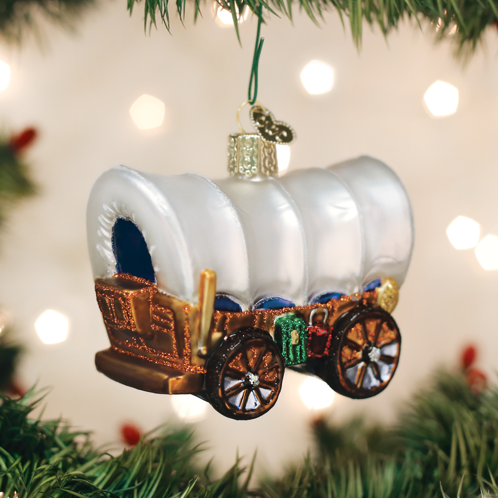 Covered Wagon Ornament Old World Christmas Old World Christmas How To Make Ornaments Christmas Cover