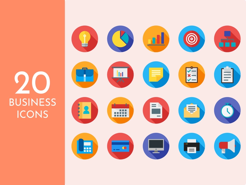 Business Icons (Flat Style) di 2020