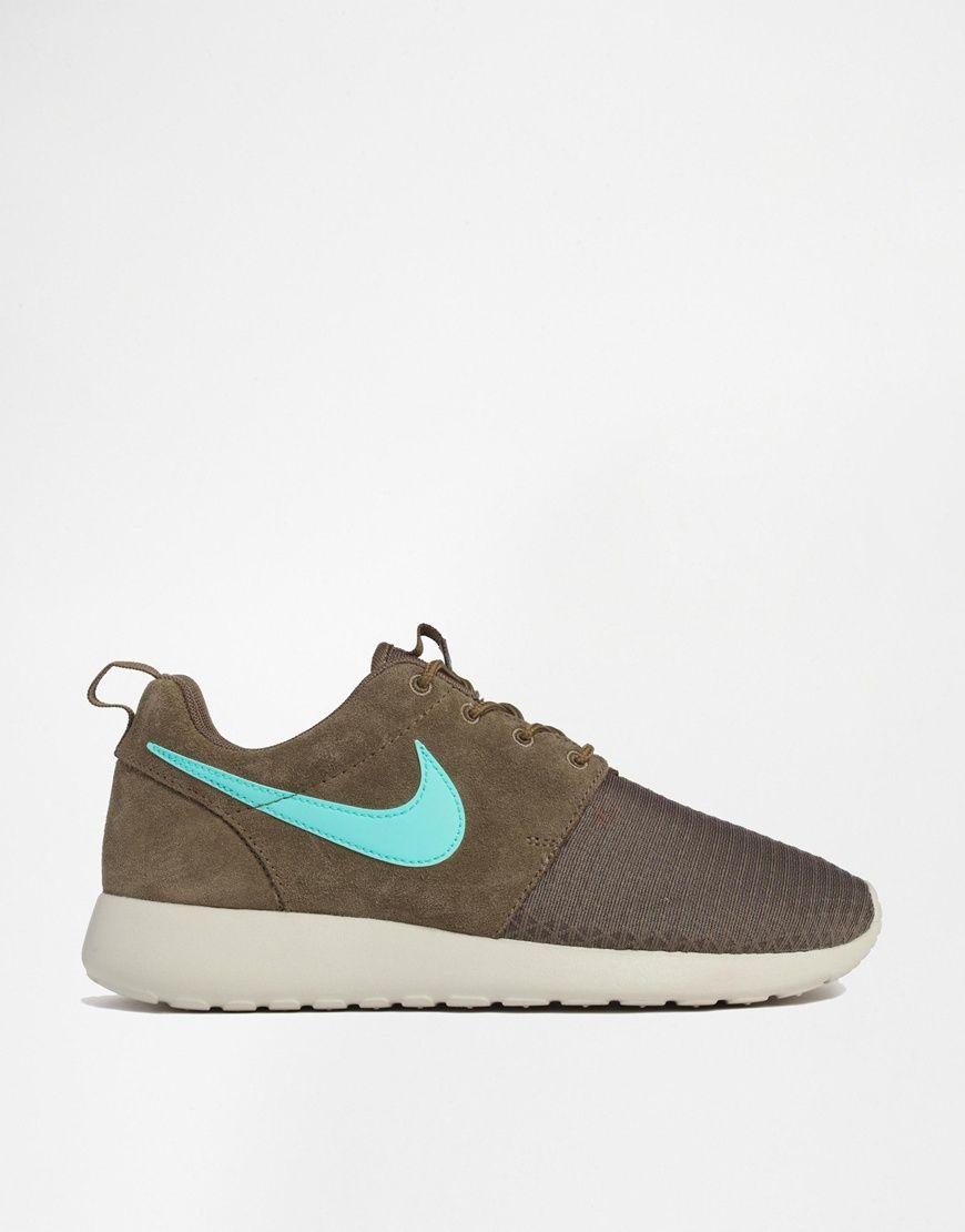 Nike Roshe Courir Formateurs Vert Dhiver Nike