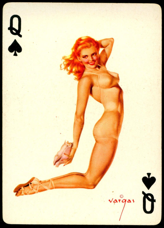 Strip Poker Player Retro PinUp Girl DIGITAL Counted Cross Stitch Pattern Chart