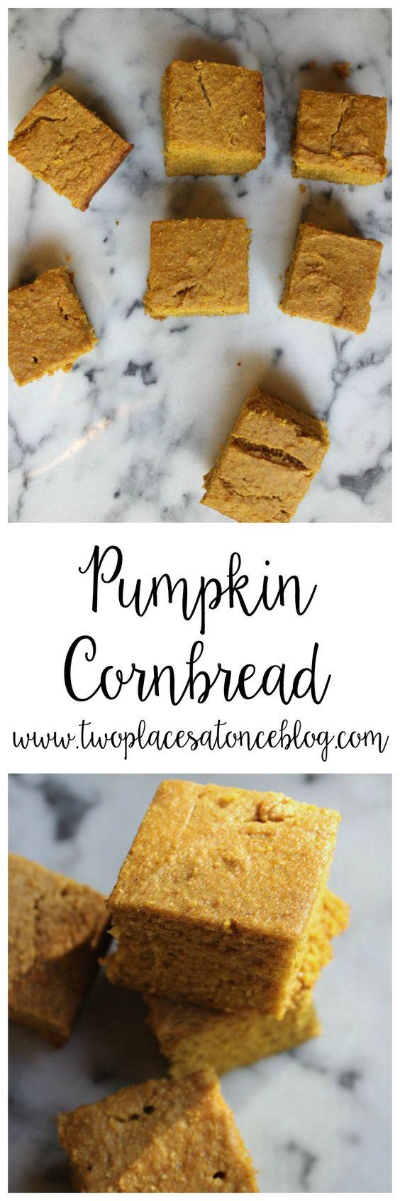Pumpkin Cornbread Recipe Food Recipes Food Pumpkin