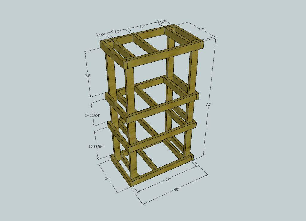Diy Home Made Custom Wood Server Rack | Server rack, Diy ...