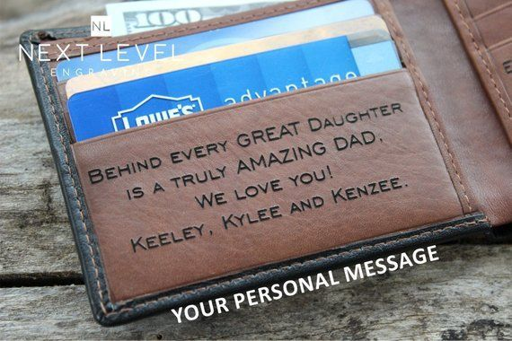 deb203074e4 Mens Black Leather Wallet Engraved Wallet, Personalized Leather ...