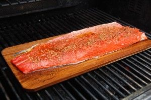 """Cedar Plank Salmon ~ """"Planking the salmon imparts a wonderful smoky flavor, a method first used by Northwest Indians""""."""