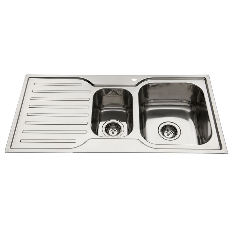 squareline 980 kitchen sink with 1  u0026 1 2 bowls and drainer   bunnings  173 squareline 980 kitchen sink with 1  u0026 1 2 bowls and drainer      rh   pinterest com