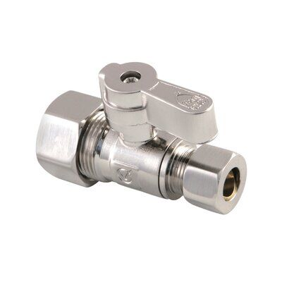 Kingston Brass Comp Straight Stop Valve Finish Brushed Nickel