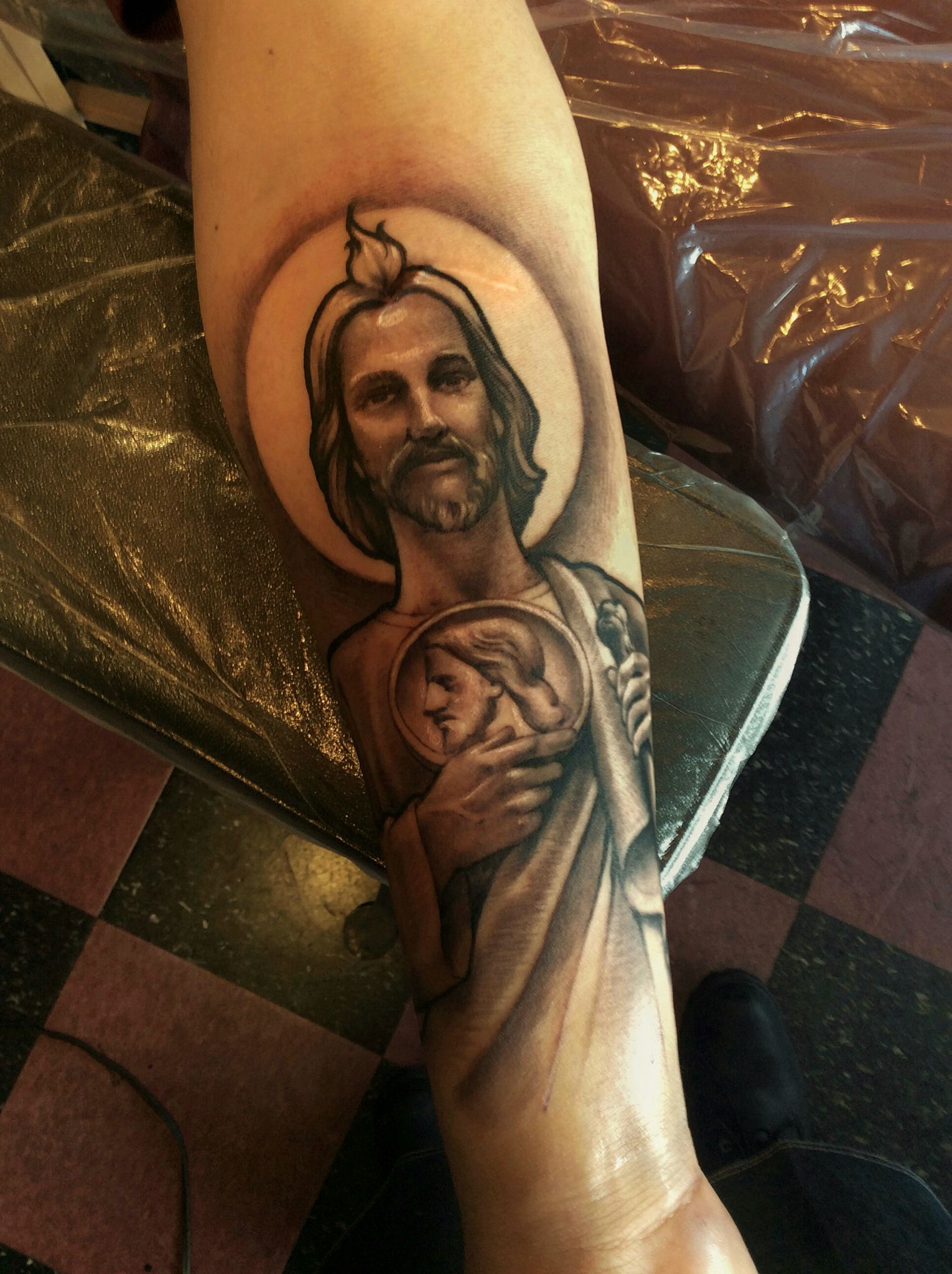 San Judas My Tattoo Portfolio Tattoos Tattoo Portfolio Sleeve