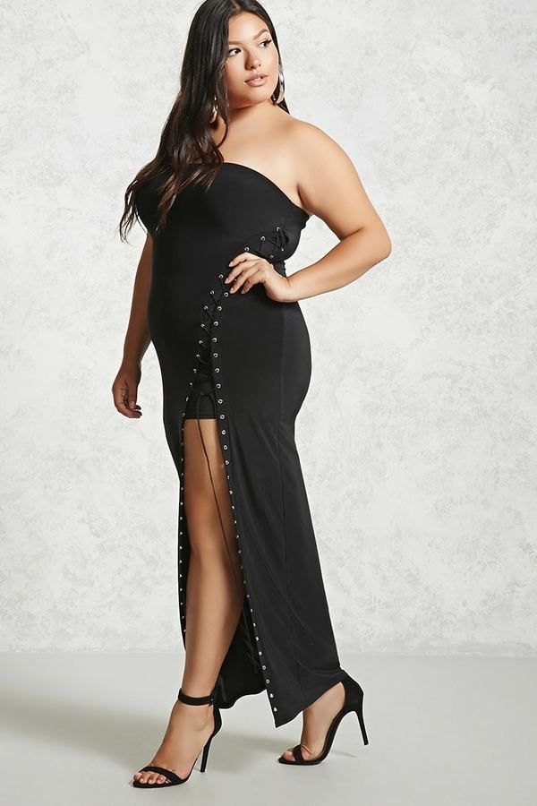 Forever 21 Forever 21 Plus Size Lace Up Tube Dress Tube Dress And
