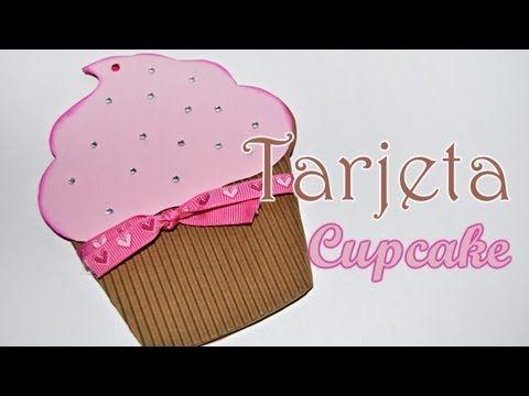 Como hacer una sencilla y fácil tarjeta con forma de Cupcake