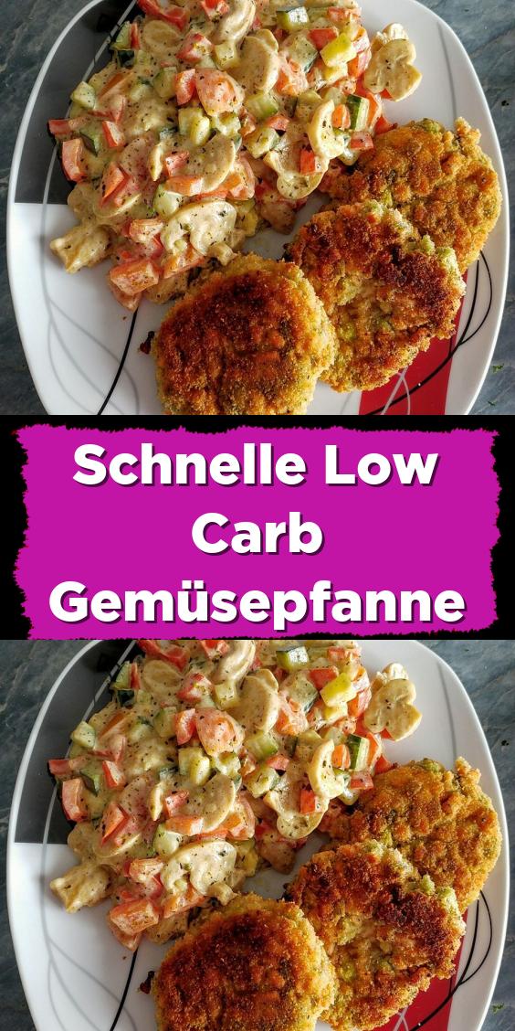 Schnelle Low Carb Gemüsepfanne