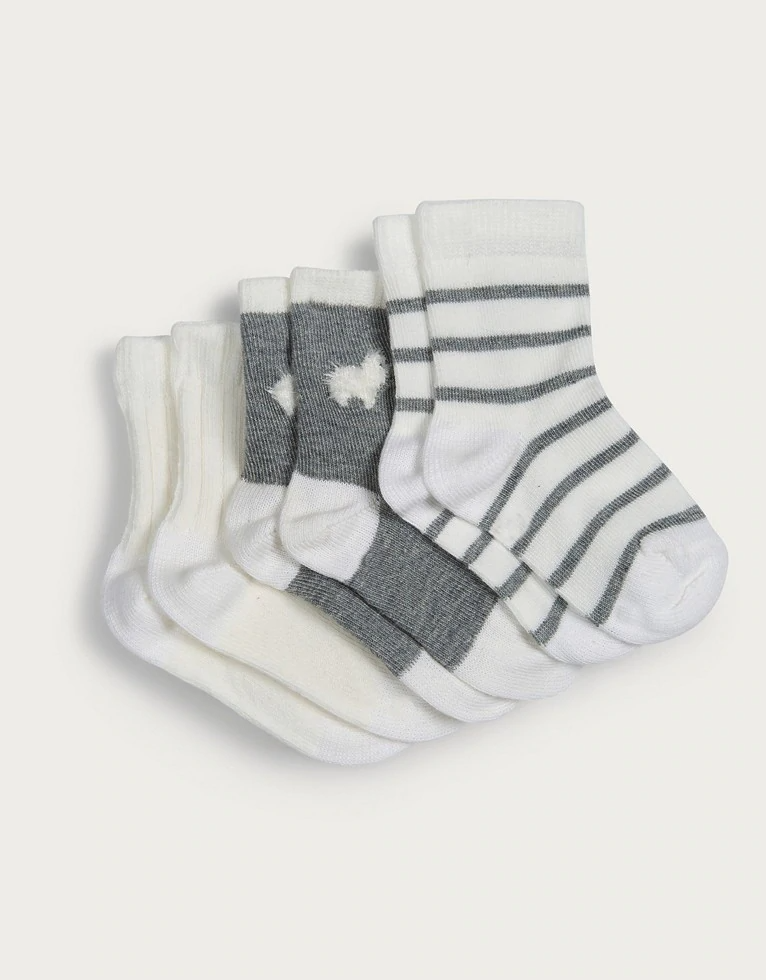 Llama Baby Socks Set Of 3 Newborn Unisex The White Company In 2020 Baby Socks Set Baby Socks Socks