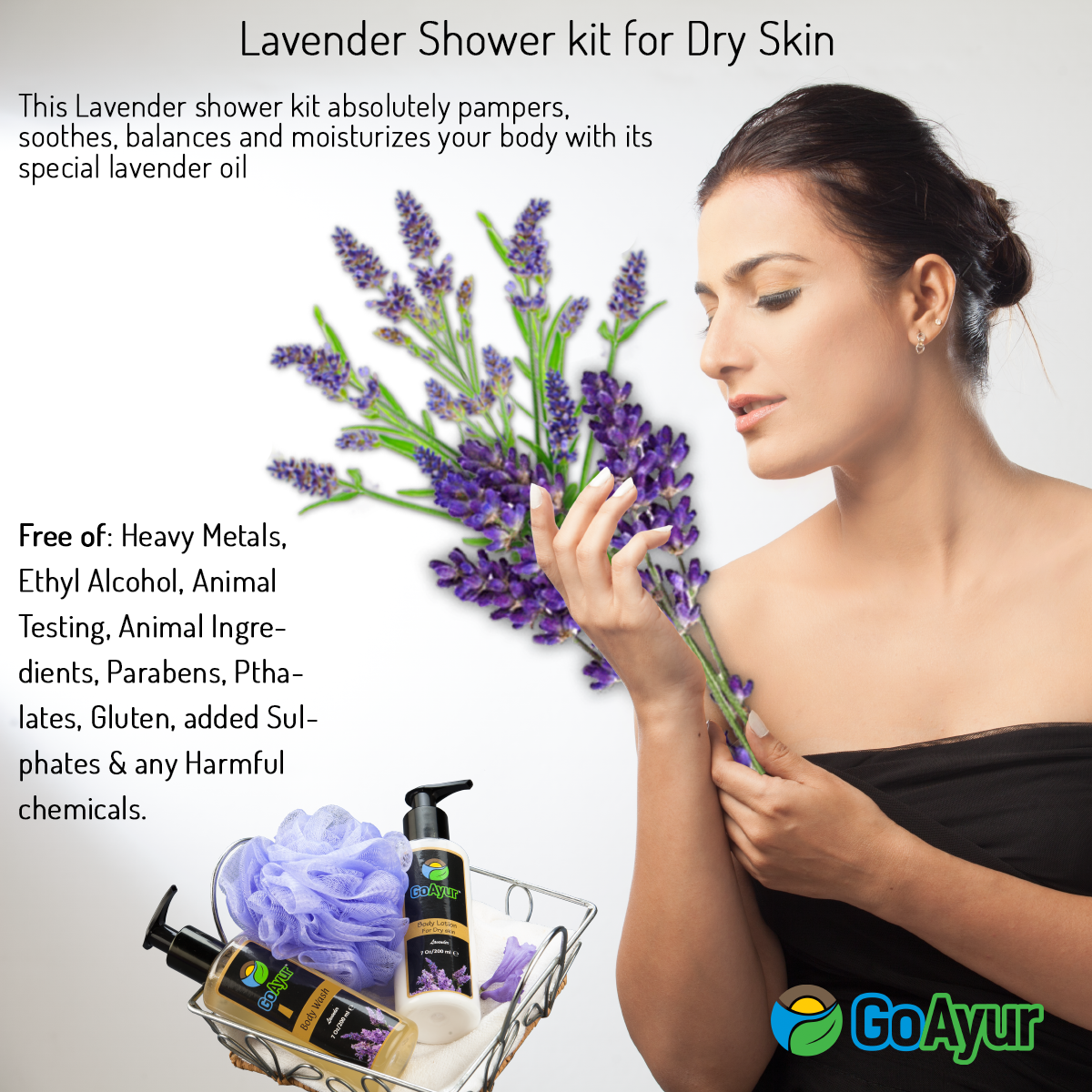 "This herbal Formula of ""Lavender Shower kit for dry skin""  will leave the skin soft  and clean with a great hydrated glow.  It builds moisture barrier that protects the skin from the harmful effects of  the sun.  #ayurvediccosmetics #herbalcosmetics #bodywash #ayurvedicbodywash #herbalbodywash #bodylotion  #MothersDay #GiftIdeas #GiftForHer #NaturalCosmetics #GoGreen  #naturalbeauty #healthylifestyle"
