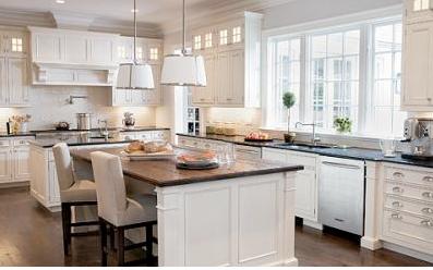 White And Dark Kitchen