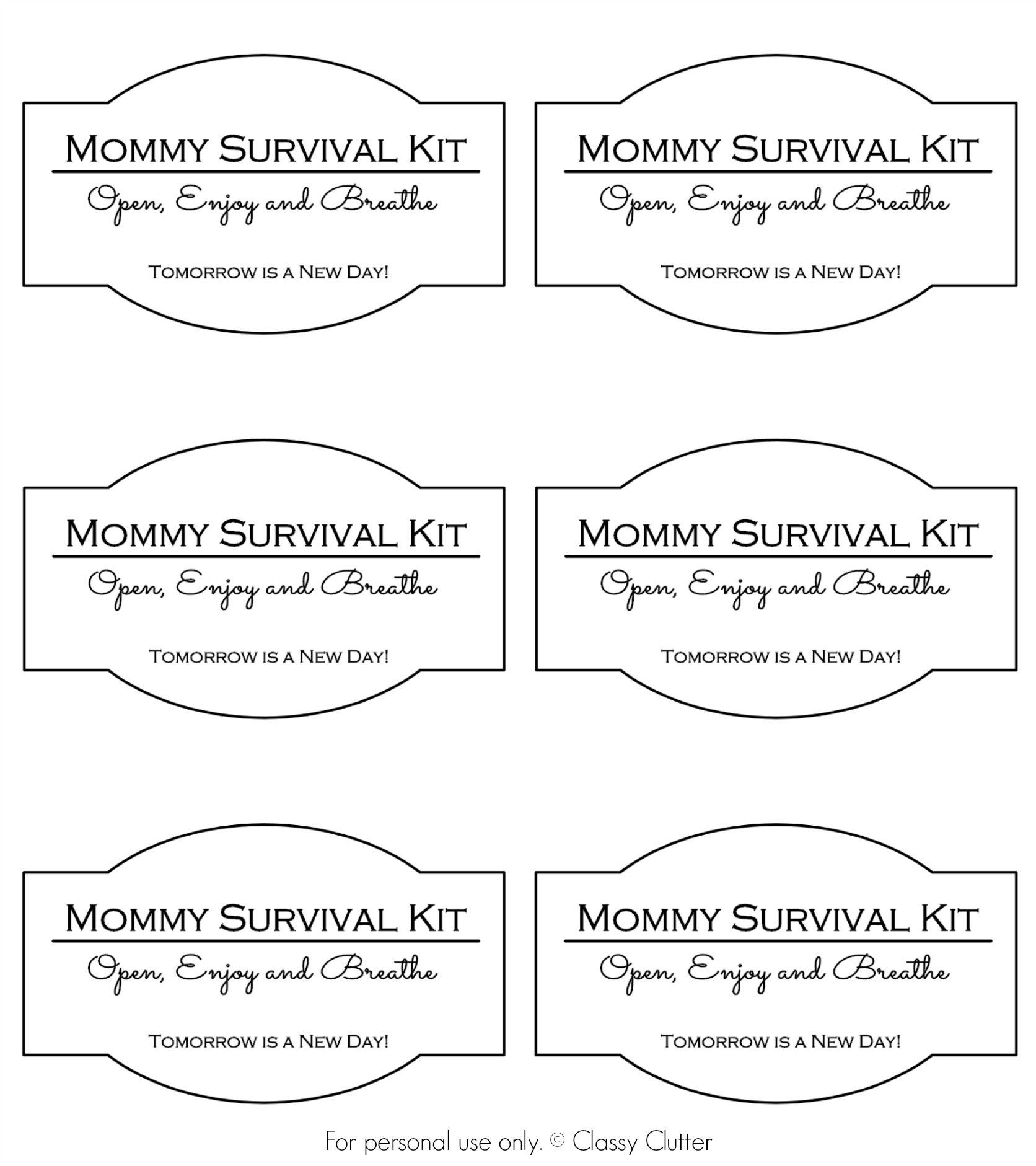 Mommy Survival Kit in a Jar | Pinterest | Baby geburt, Babyparty und ...