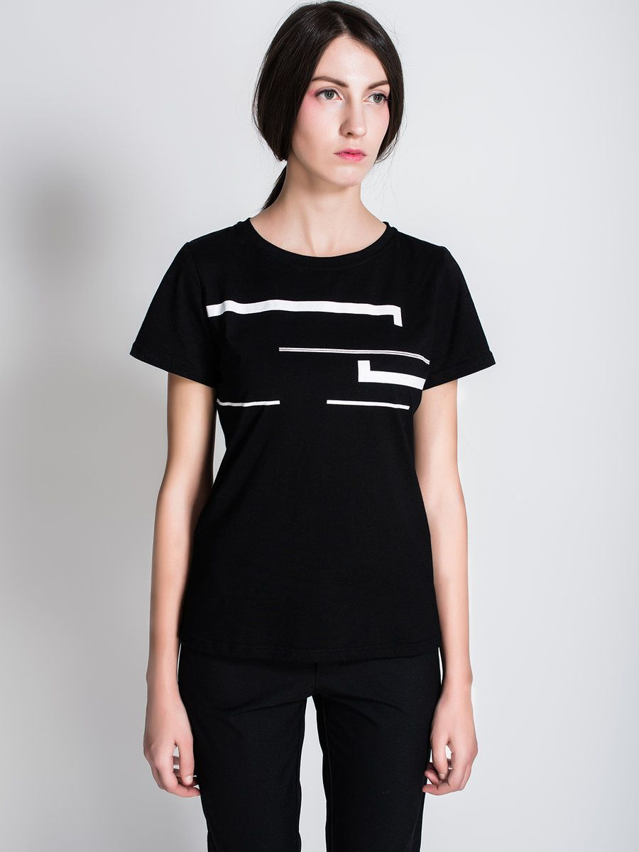 Adorewe stylewe designer tshirts designer celizia black short