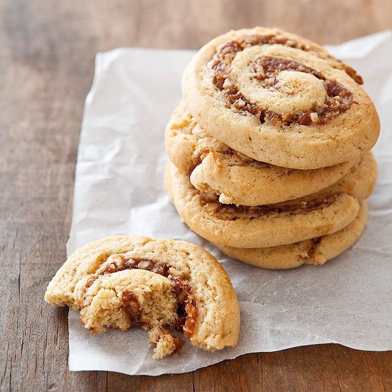With our Date-Filled Roll-Ups we pair a soft, cakey cookie with a swirl of sticky, nut-studded ...
