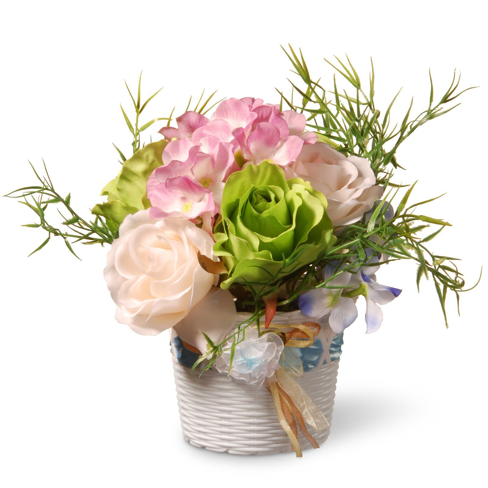 National Tree Company Rose Silk Flower Arrangement Nf36 5277 1