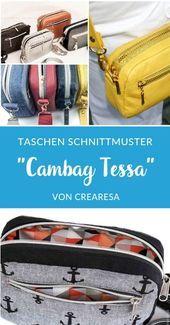 Bolso de hombro – Cambag Tessa – Patrón eBook- Umhängetasche – Cambag Tessa –…