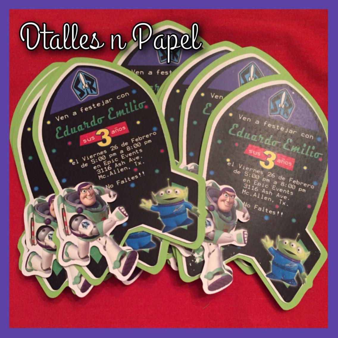 Buzz Lightyear Party Invitation 150 Fiesta De Toy Story