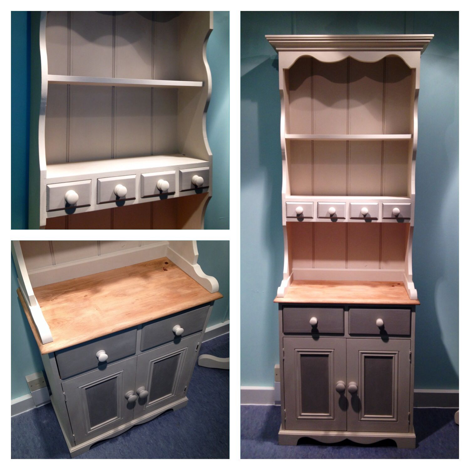 The Perfect Size Welsh Dresser in Autentico Chalk Paint Cocos & White Pepper