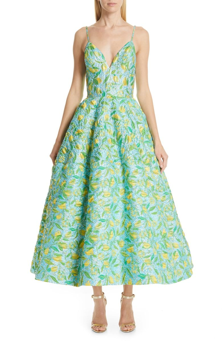 36b4eafd42 Free shipping and returns on Christian Siriano Floral Evening Dress ...