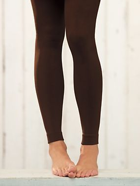 Women's Footless Fleece-Lined Tights | Sahalie