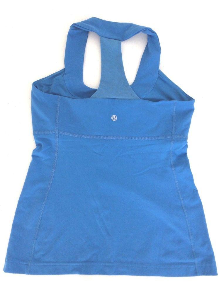 054180a89f Lululemon Scoop Neck Tank Top Racerback Athletic Yoga Shirt Blue 4   Lululemon  ShirtsTops