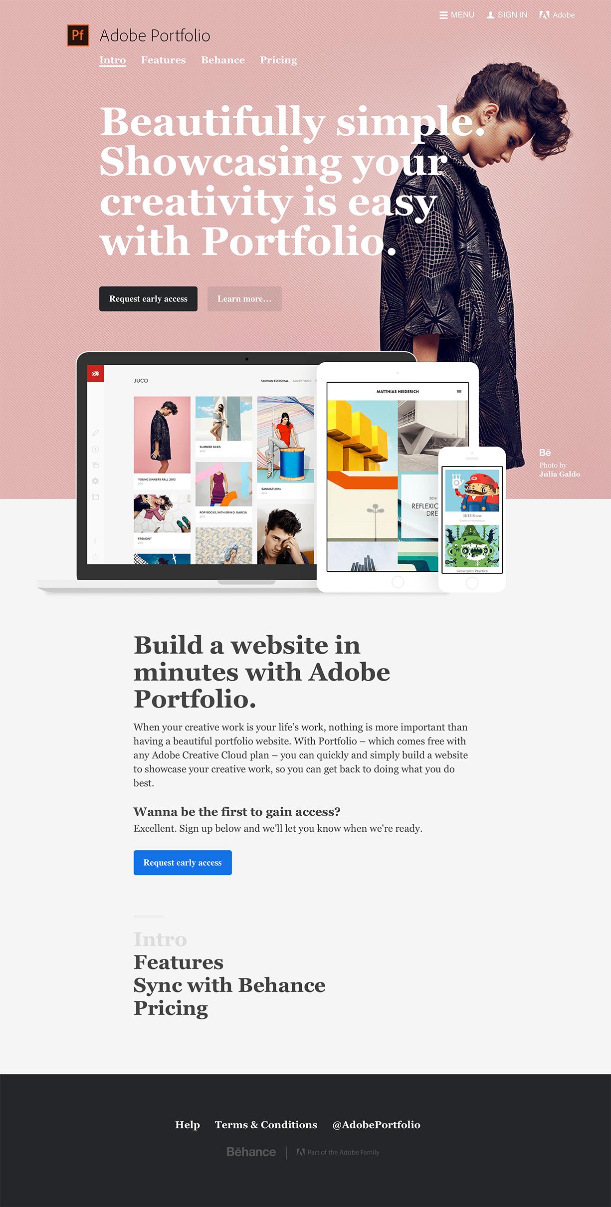 Adobe Portfolio Landing Page Design Inspiration Lapa Ninja Landing Page Design Page Design Portfolio Website