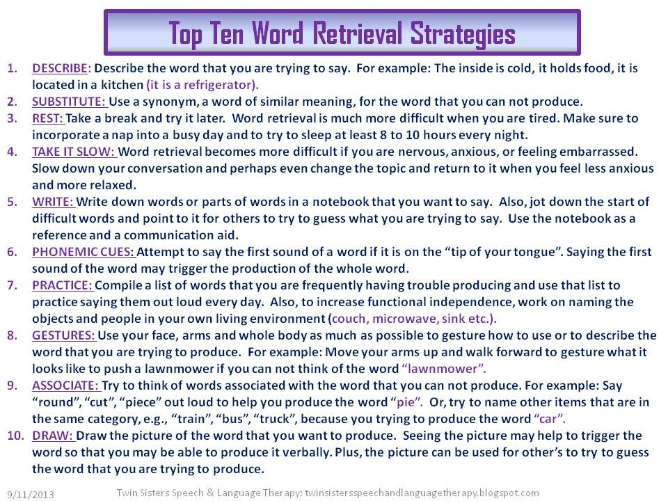 Word Finding Worksheets Worksheets for all | Download and Share ...