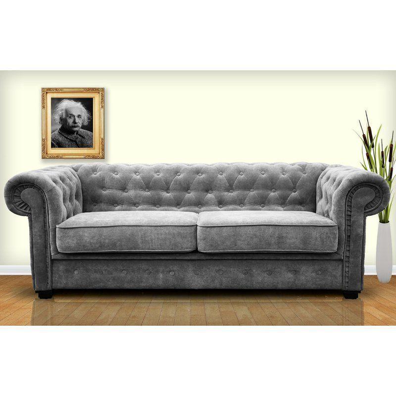 3 Seater Sofa Dark Grey Chesterfield Fabric Foam Cushion Living Room Furniture Sofa Chesterfield Sofa Bed Sofa Upholstery