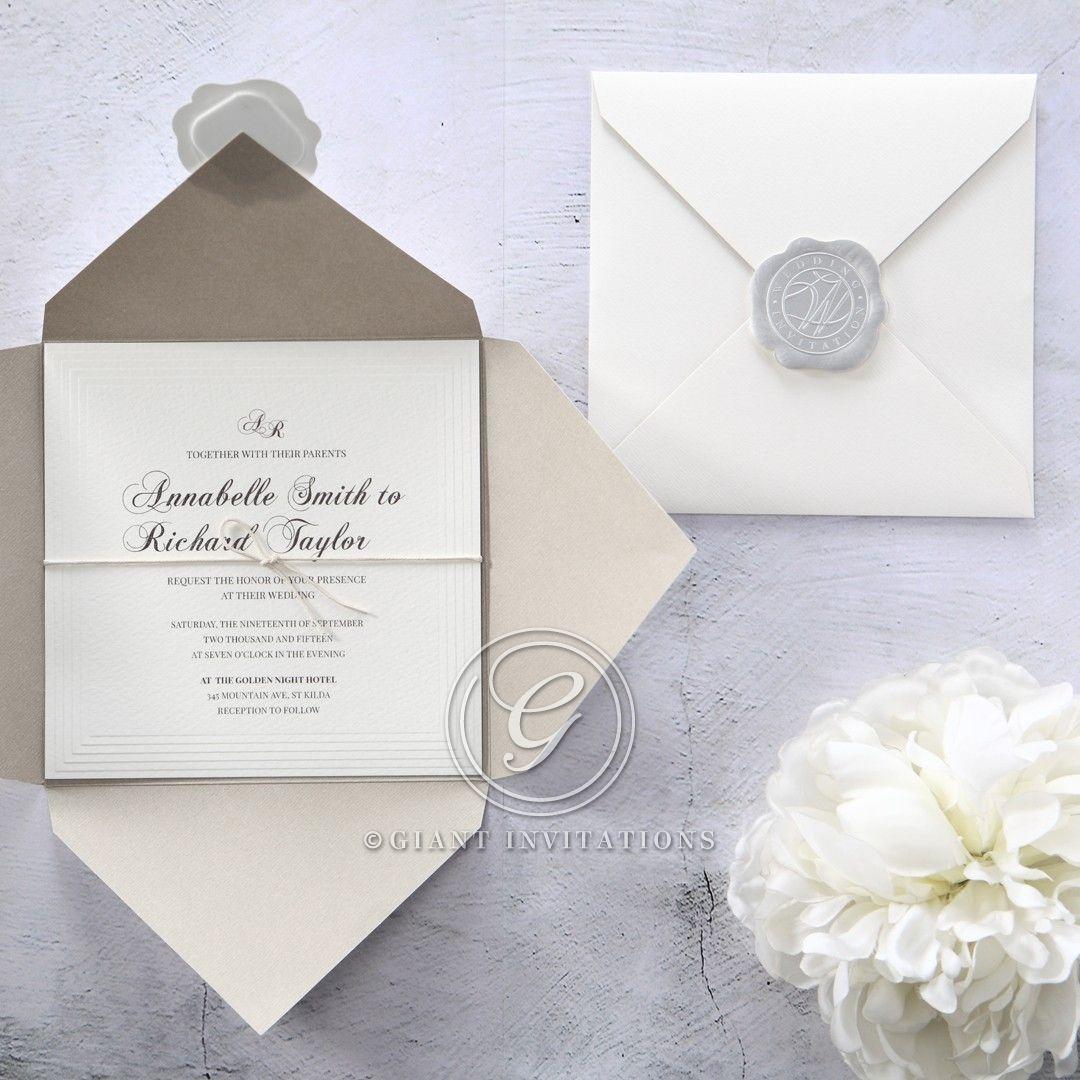 White Modern Pocket-Grey - Wedding invitation - 65 | The Big Day ...