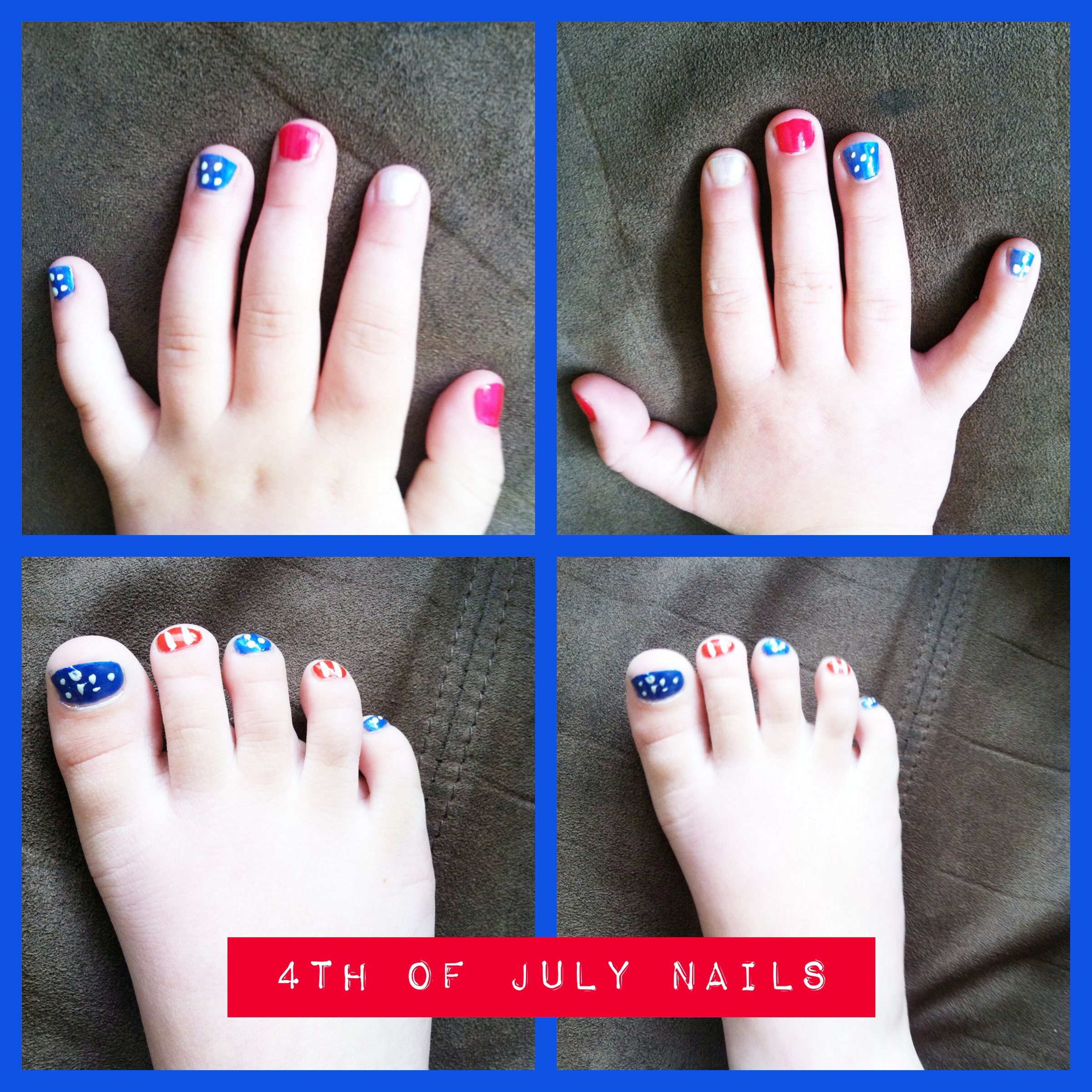 4th of July nails! Easy and patriotic! American flag themed. Great ...