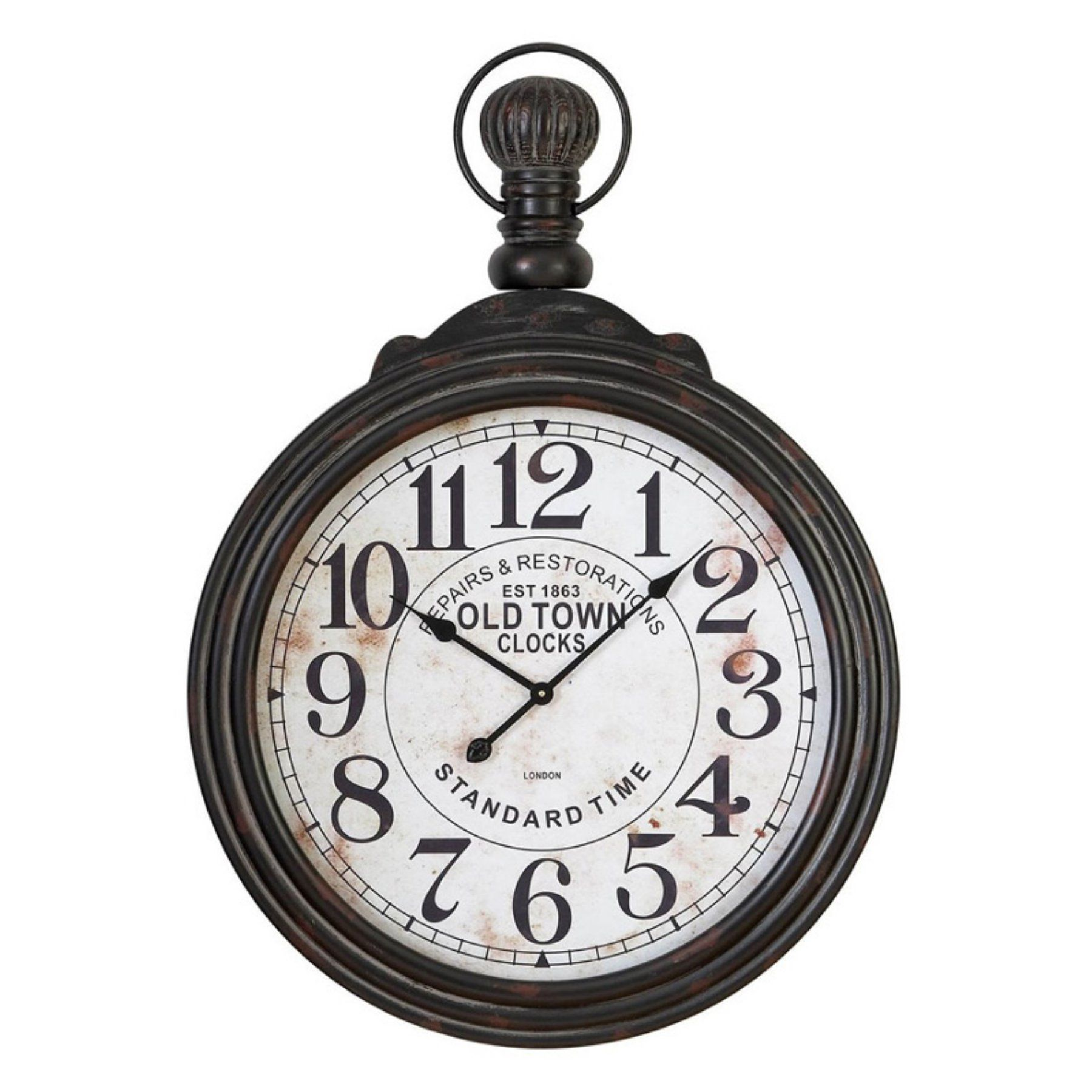 Home accents large pocket watch style wall clock 28 in wide 52107 aspire home accents large pocket watch style wall clock 28 in wide 52107 amipublicfo Images