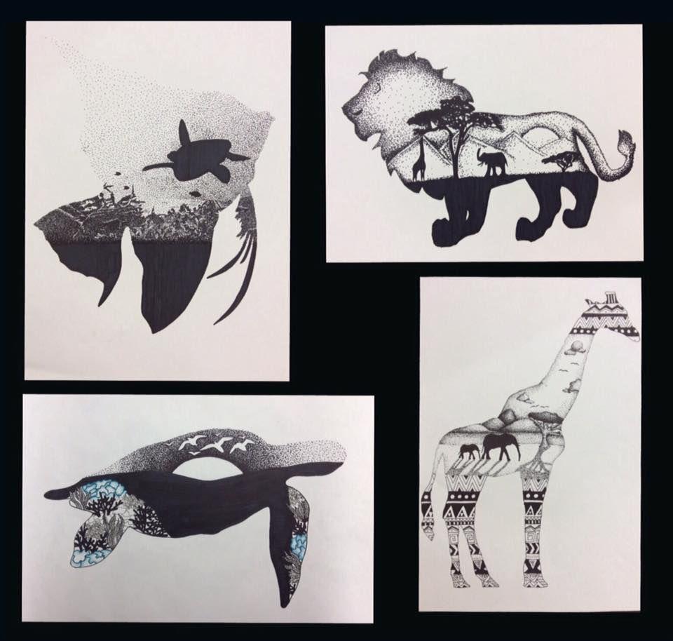Laurie Kahn art teacher   Art Lesson Ideas: Silhouette   Pinterest ... for Silhouette Art Projects High School  565ane