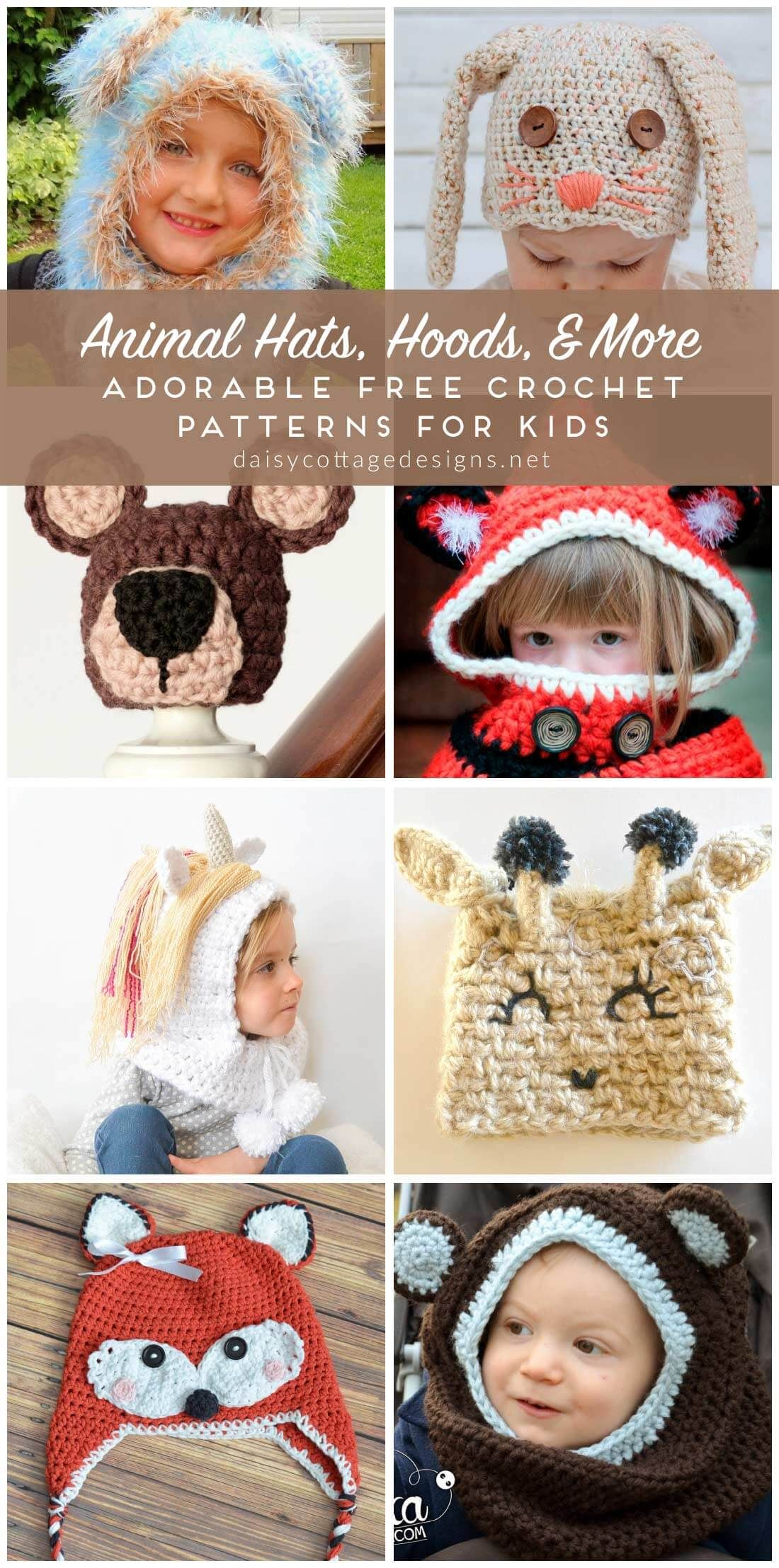 bee3f93929d Roundup  18 free crochet patterns for awesome animal hats