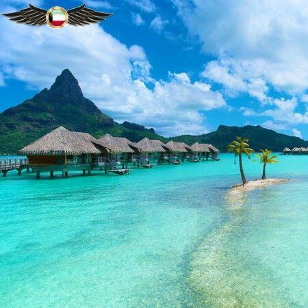 جاء في الترتيب الثالث 3 Bora Bora Island 3 جزيرة بورا بورا تابعة لفرنسا المحيط الهادي هي جزيرة Wow Travel Vacations To Go Dream Vacations
