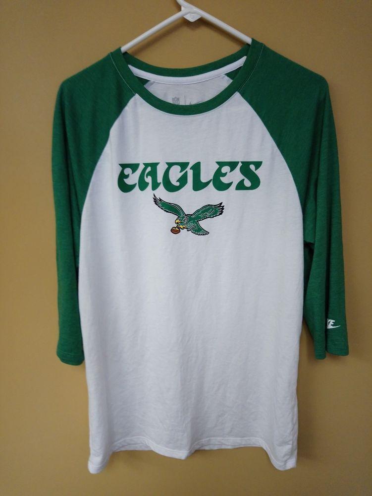2b70b21d Nike Tee 80s Logo Philadelphia Eagles T Shirt 3/4 Sleeve size M | Sports  Mem, Cards & Fan Shop, Fan Apparel & Souvenirs, Football-NFL | eBay!