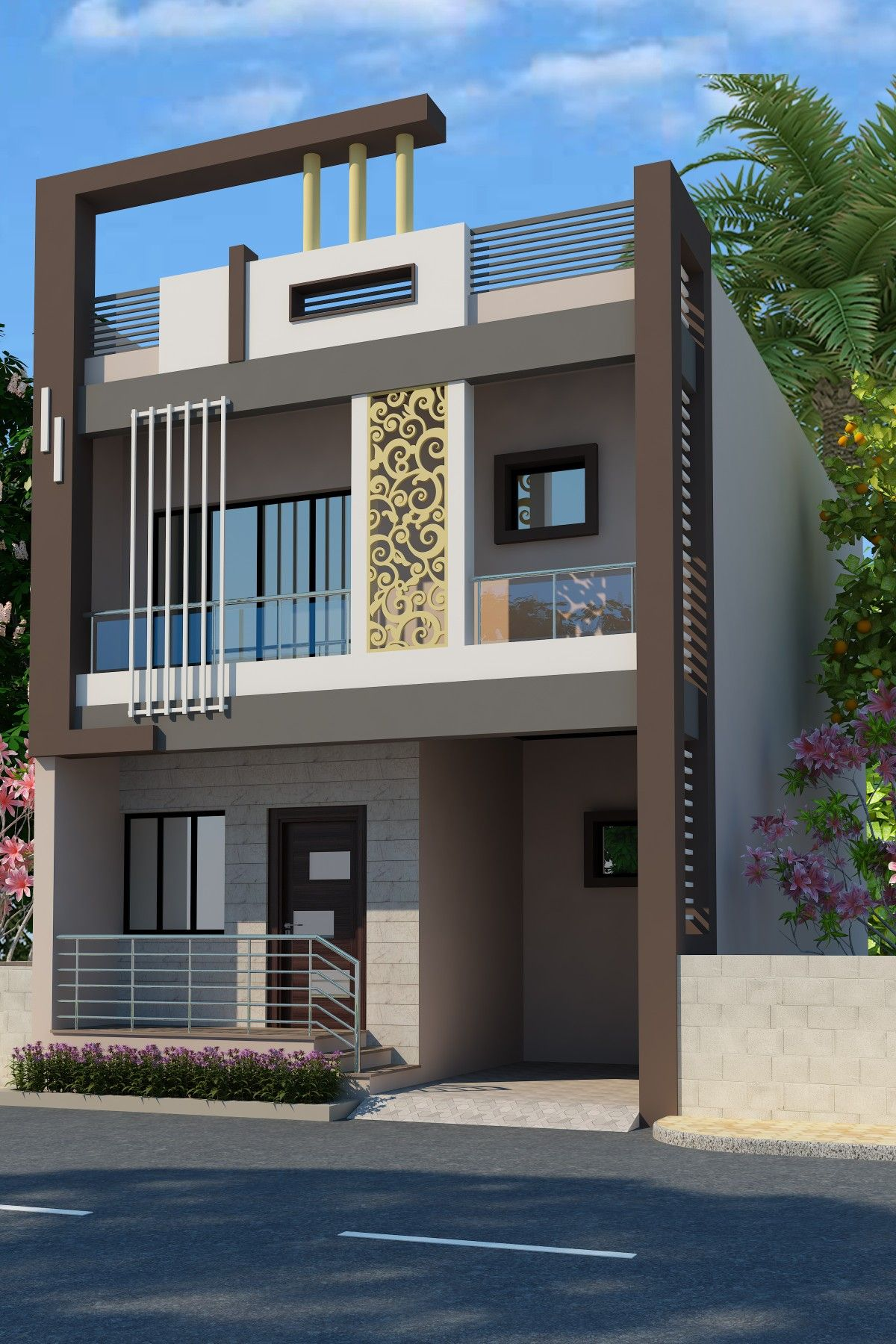 New design also front elevation designs for duplex houses in india google search rh pinterest