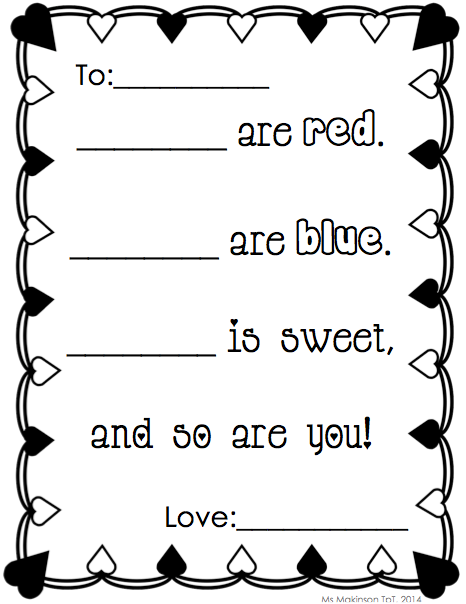 writing activities - february | writing centers, poem and pre-school, Ideas