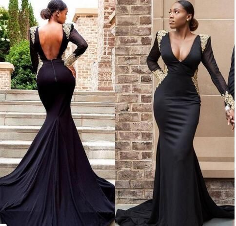 ef38cd9aaf3 2018 sexy cheap plus size black girl prom dresses gold lace formal evening  gowns #2018promdress #promdresses #prom #ballgown #fanshion #dress #dresses  ...