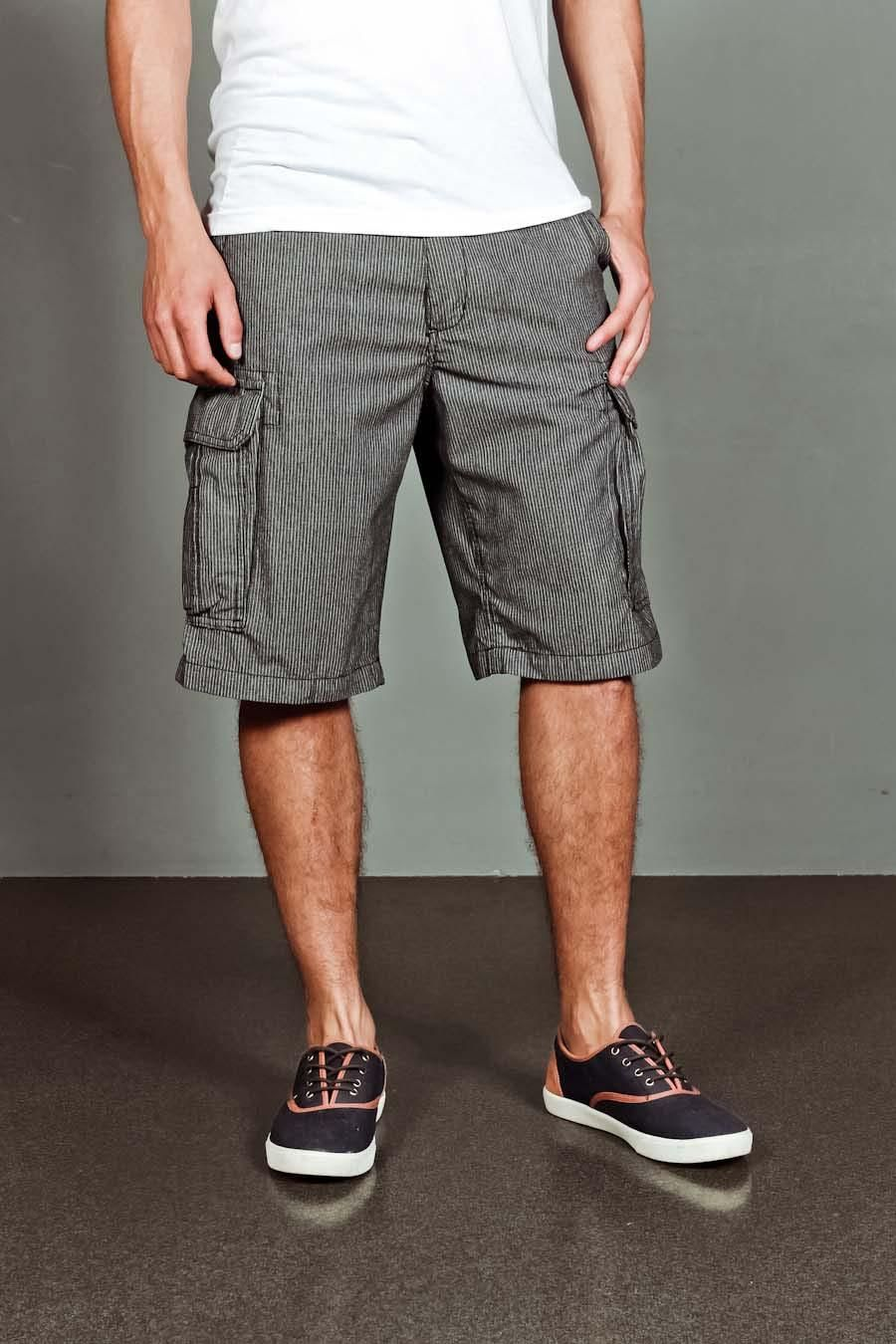 a443a05838 Yarn Dyed Stripe Cargo Shorts. Love the shoes, too. | Men's | Mens ...