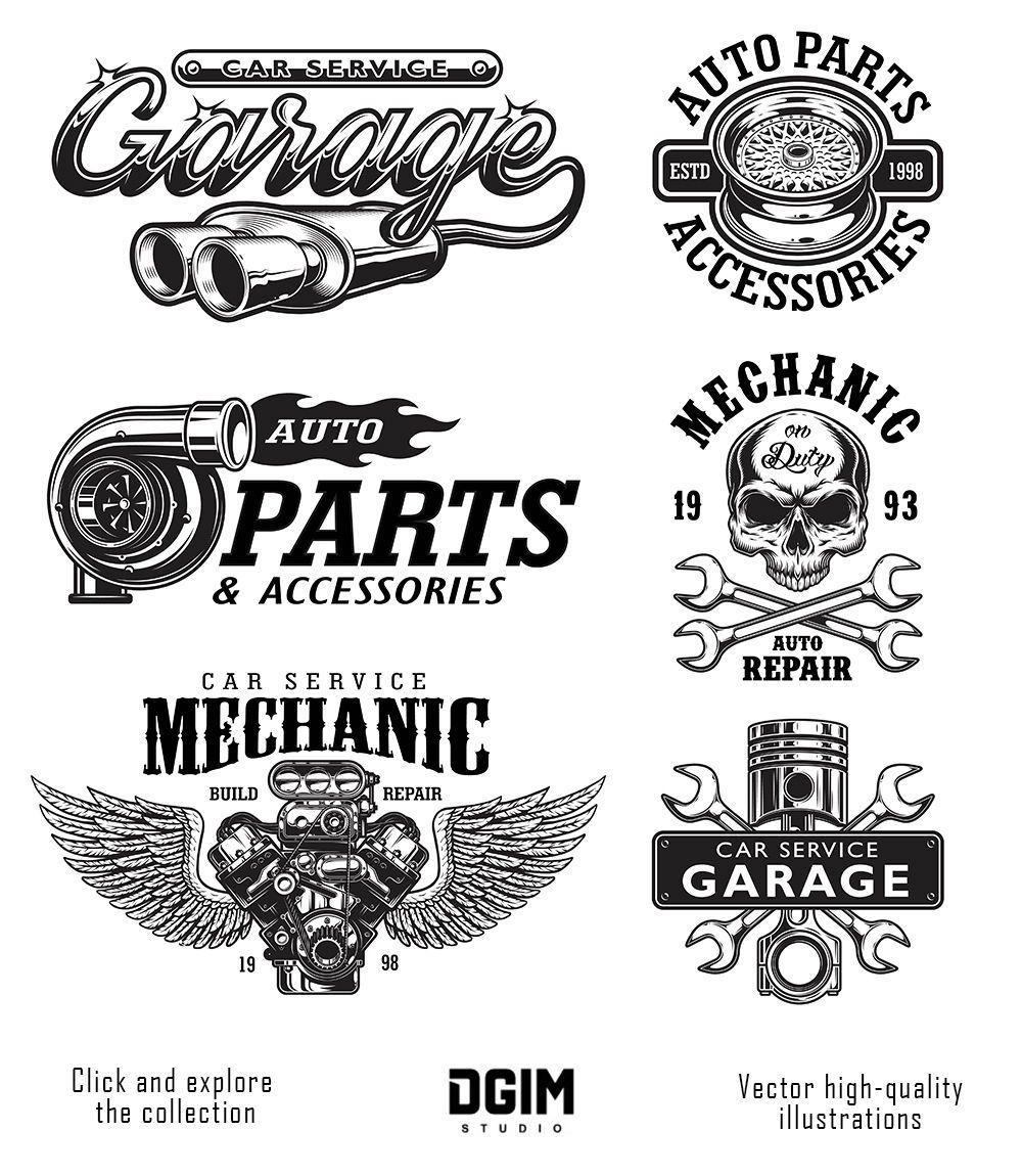 Car Service Car Repair Service Garage Logo Motorcycles Logo Design
